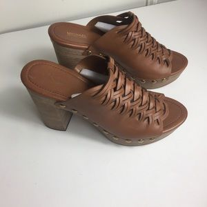 Michael Kors Westley Leather Mules Size 10